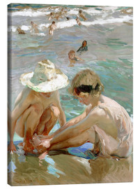 Canvas print  The wounded foot - Joaquin Sorolla y Bastida