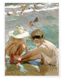 Poster  The Wounded Foot - Joaquin Sorolla y Bastida