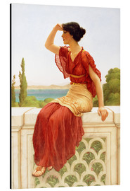 Alu-Dibond  The Signal - John William Godward
