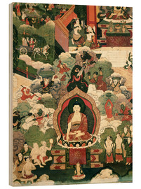 Wood print  The life of the Buddha Sakymuni - Tibetan School