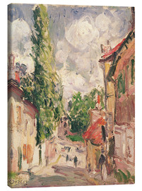 Canvas print  Road in a Village - Alfred Sisley