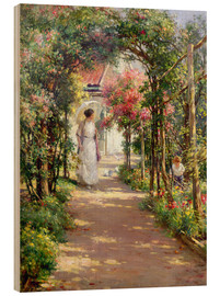 Wood print  Summer in the garden - William Kay Blacklock