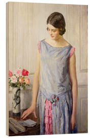 Wood print  Yes or no - William Henry Margetson