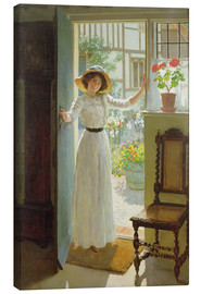 Canvas print  At the door - William Henry Margetson