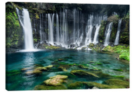 Canvas  Turquoise blue waterfalls - Jan Christopher Becke