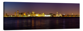 Canvas  Liverpool skyline at night Panorama - Thomas Hagenau