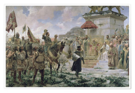 Premium poster  The arrival of Roger de Flor in Constantinople - José Moreno Carbonero