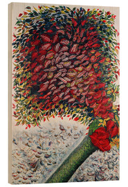 Wood print  The Red Tree - Seraphine Louis