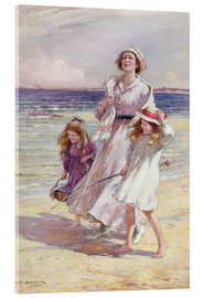 Acrylic print  A Breezy Day at the Seaside - William Kay Blacklock