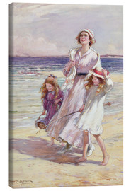 Canvas print  A Breezy Day at the Seaside - William Kay Blacklock