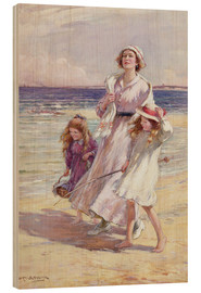 Wood print  A Breezy Day at the Seaside - William Kay Blacklock