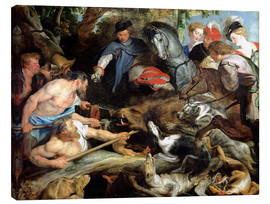 Canvas print  Hunting a Wild Boar - Peter Paul Rubens