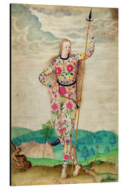 Aluminium print  A young daughter of the Picts, 1585 - Jacques Le Moyne