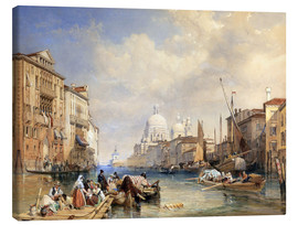 Canvas print  The Grand Canal, Venice, 1835 - James Duffield Harding