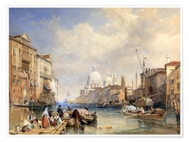 Premium poster  The Grand Canal, Venice, 1835 - James Duffield Harding