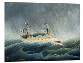 Acrylic glass  The storm-tossed vessel - Henri Rousseau