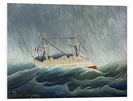 Foam board print  The storm-throwing ship - Henri Rousseau