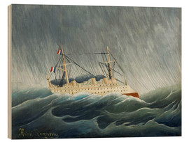 Wood print  The storm-tossed vessel - Henri Rousseau