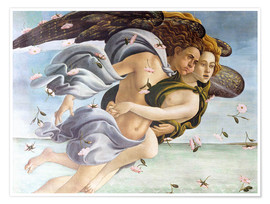 Premium poster  Birth of Venus, Angels - Sandro Botticelli