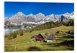Acrylic print  Alm in the Alps - Gerhard Wild