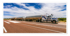 Premium poster  Road Train Australia - Thomas Hagenau