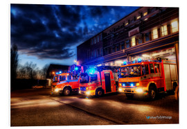 Foam board print  German fire trucks - Markus Will