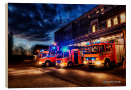 Wood print  German fire trucks - Markus Will