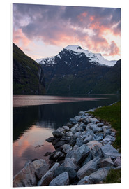 Foam board print  Geiranger Sunset - Dave Derbis