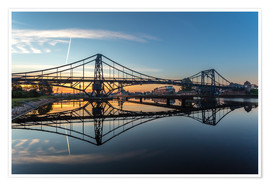 Premium poster  Sunrise at Kaiser-Wilhelm-Bridge - Stephan Giesers