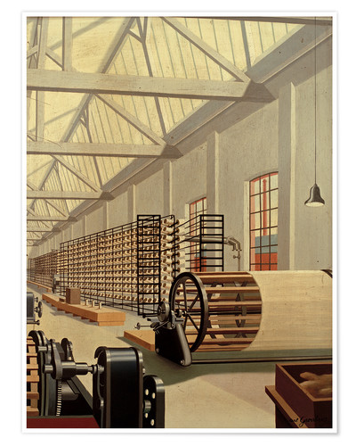 Premium poster Preparation hall (weaving)