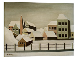 Forex  Factory landscape in the snow - Carl Grossberg