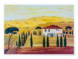 Premium poster  Southern Tuscany - Christine Huwer