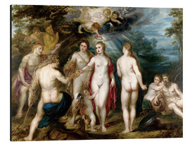 Aluminium print  The judgment of paris - Peter Paul Rubens