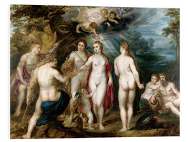 Foam board print  The judgment of paris - Peter Paul Rubens