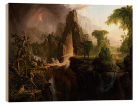 Wood  Expulsion from the Garden of Eden - Thomas Cole