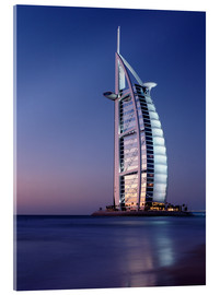 Acrylic print  The Burj Al-Arab at dusk - Ian Cuming