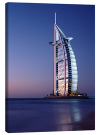 Canvas print  The Burj Al-Arab at dusk - Ian Cuming
