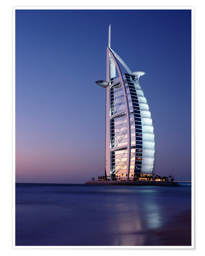 Premium poster The Burj Al-Arab at dusk