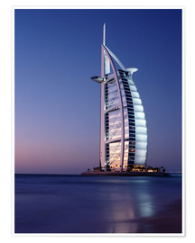 Poster  The Burj Al-Arab at dusk - Ian Cuming