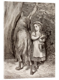Acrylic glass  Scene From Little Red Riding Hood By Charles Perrault - Gustave Doré