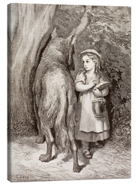 Canvas print  Scene From Little Red Riding Hood By Charles Perrault - Gustave Doré