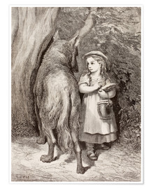 Poster Scene From Little Red Riding Hood By Charles Perrault