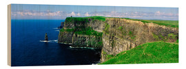 Wood print  Cliffs of Moher - The Irish Image Collection