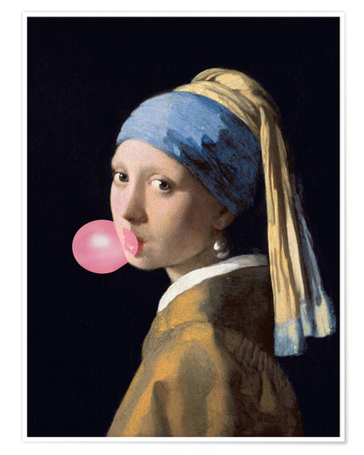 Poster The Girl with a Pearl Earring (gum)