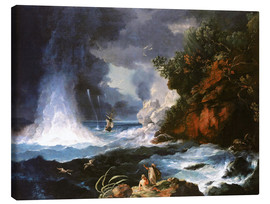 Canvas print  James Cook's second voyage to New Zealand - William Hodges
