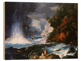 Wood print  James Cook's second voyage to New Zealand - William Hodges