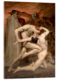 Acrylic print  Dante and Virgile - William Adolphe Bouguereau
