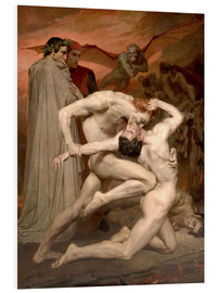 Foam board print  Dante and Virgile - William Adolphe Bouguereau