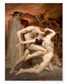 Poster  Dante and Virgile - William Adolphe Bouguereau