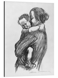 Aluminium print  Mother and child - Käthe Kollwitz
